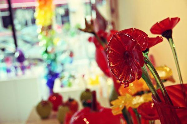 Hot Sand Asbury Park NJ glass flower