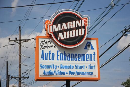 Imagine Audio Cherry Hill NJ sign
