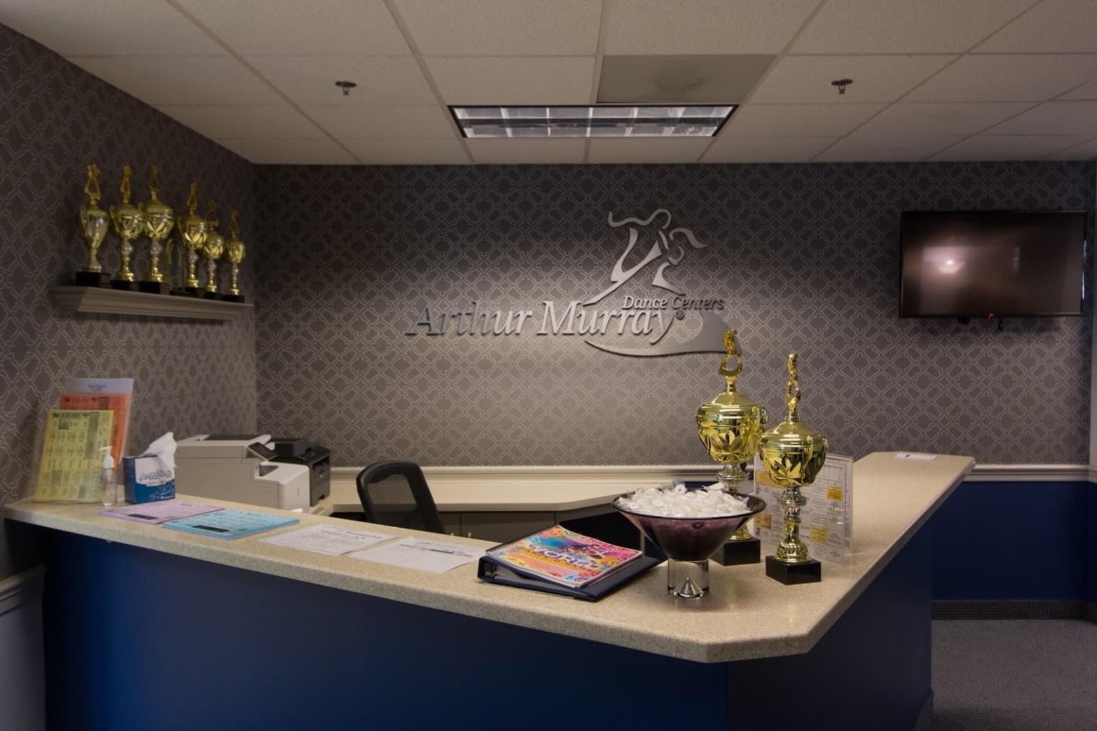 Arthur Murray Dance Center Dance Studio reception desk in Gaithersburg, MD.jpg