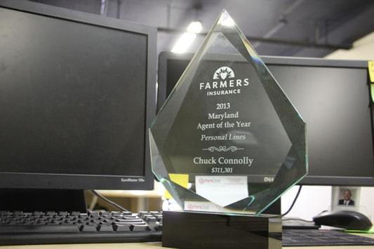 Connolly Farmers Insurance Agency Baltimore MD trophy