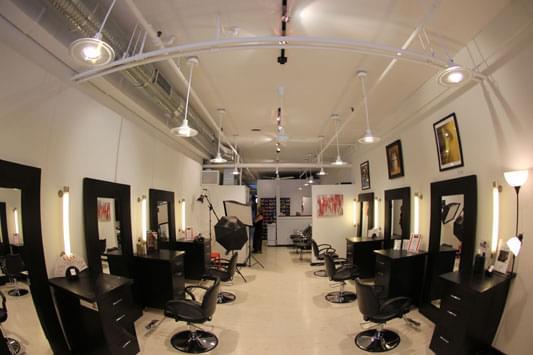 Sass Salon Baltimore MD interior