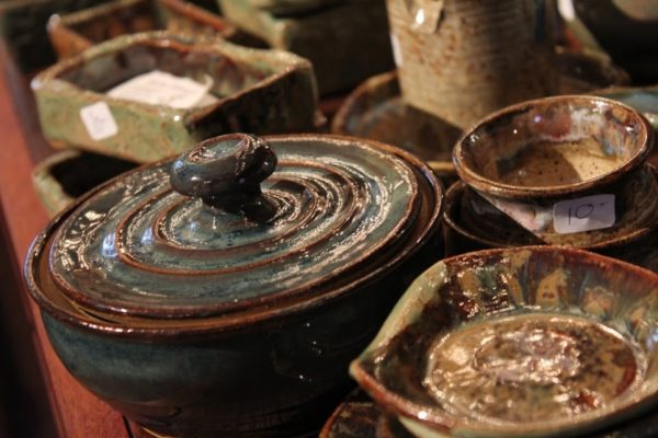 The Leaky Cup Pottery in Historic Smithville Absecon NJ pots