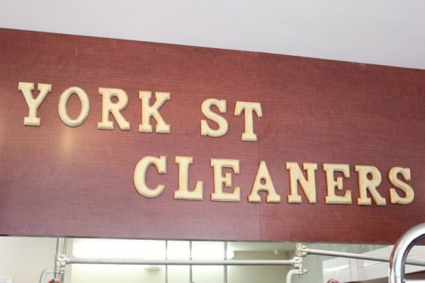 York Street Cleaners Philadelphia PA sign