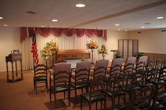 Murray-Paradee Funeral Home Cherry Hill NJ casket viewing
