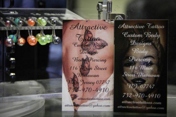 Attractive Tattoo LLC Matawan NJ business cards