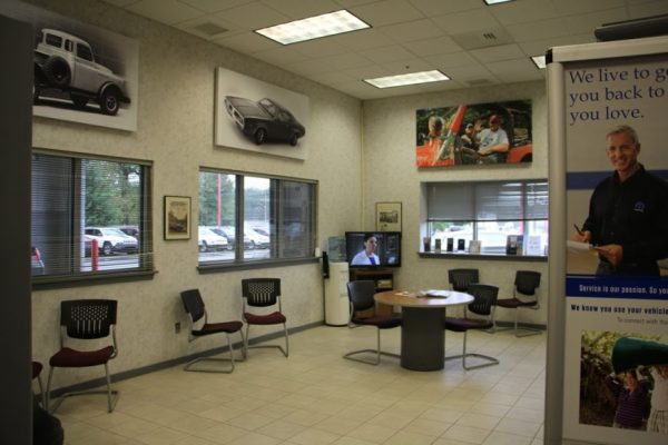 Carman Chrysler Dodge Jeep Ram New Castle DE car dealership waiting room tv