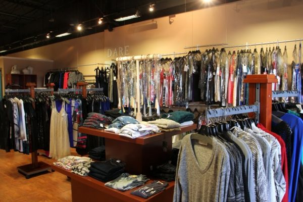 Dare Boutique Cherry Hill NJ clothing display interior