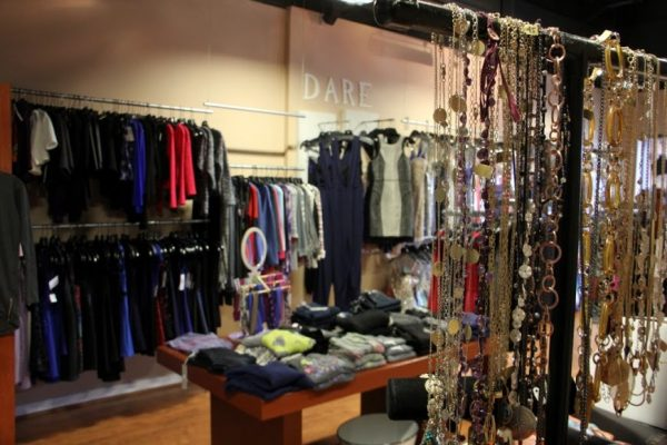 Dare Boutique Cherry Hill NJ clothing display interior necklaces jewelery