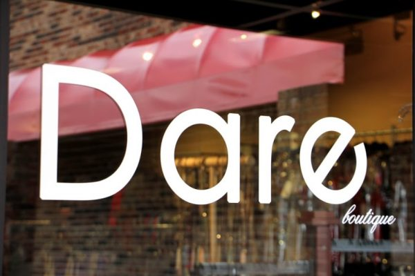 Dare Boutique Cherry Hill NJ clothing store front entrance logo sign