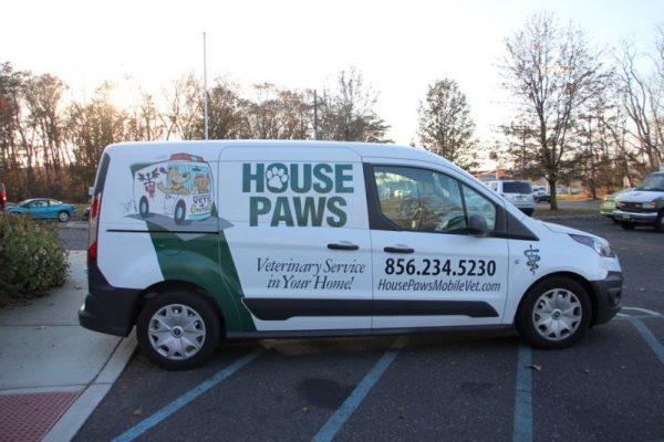 HousePaws Mobile Veterinary Service Mt Laurel NJ van details