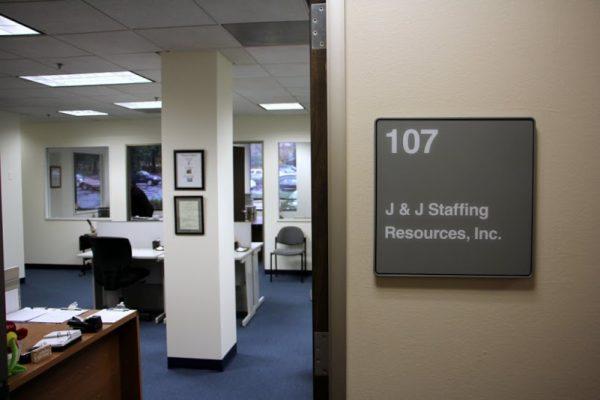 J & J Staffing Resources Newark DE entrance sign