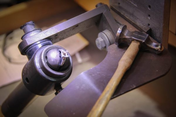 Joel McFadden Designs Red Bank NJ ring maker jewelery designer hammer vise