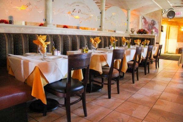La Pastaria restaurant Red Bank NJ tables