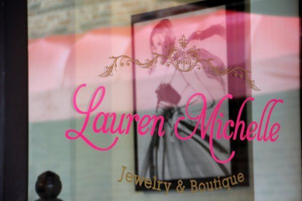 Lauren & Michelle LLC Cherry Hill  NJ boutique shop door entrance logo sign