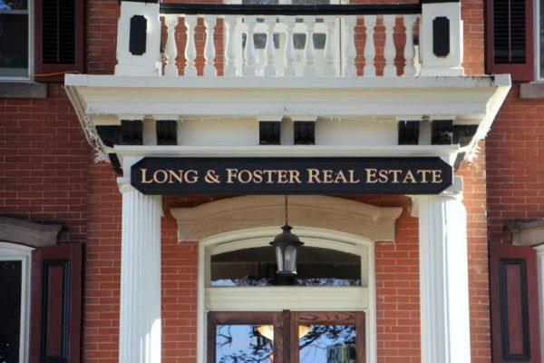 Long & Foster Real Estate entrance sign