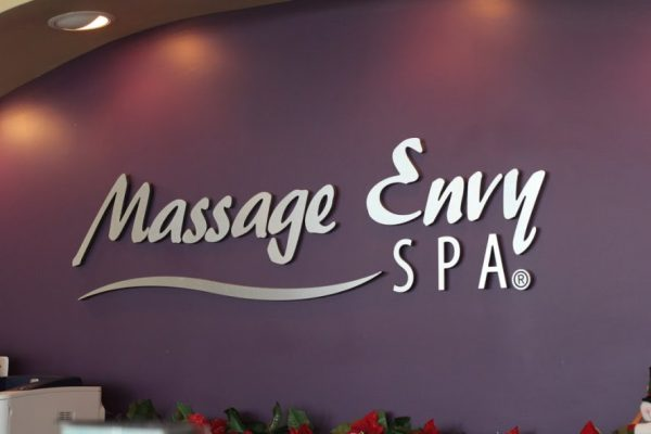 Massage Envy SPA Mount Laurel NJ wall logo sign