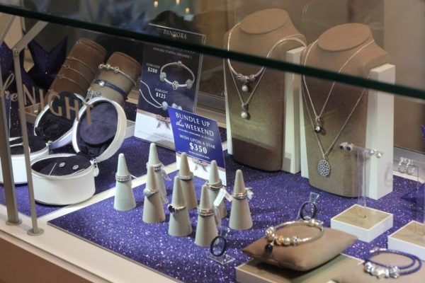 Michael's Jewelers Haddon Heights NJ jewelery glass case display rings necklaces