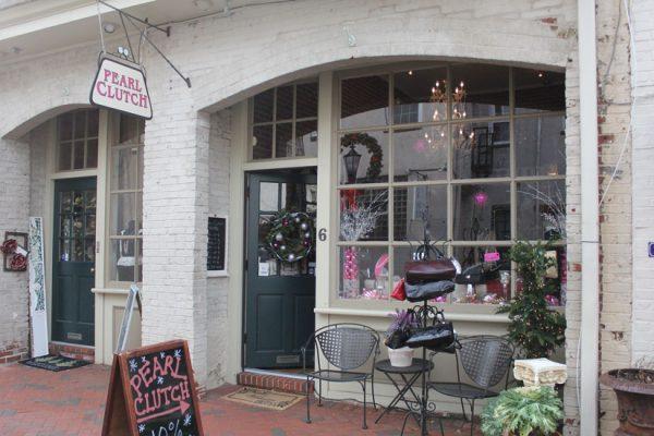 Pearl-Clutch-Haddonfield-NJ-store-front-entrance-sign-logo-window-display