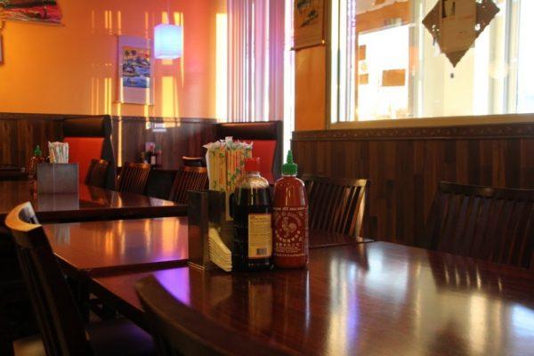 Pho Eden Cherry Hill NJ Vietnamese Restaurant interior table sriracha chopsticks