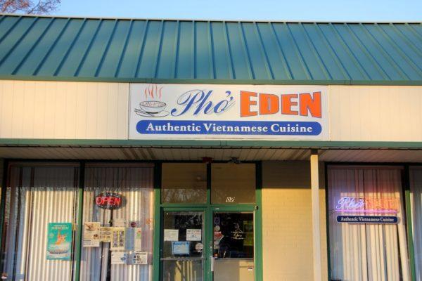 Pho Eden Cherry Hill NJ Vietnamese Restaurant store front entrance sign logo