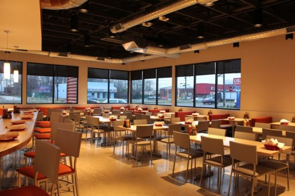 Rockhill dine-in burger restaurant Cherry Hill NJ interior tables chairs