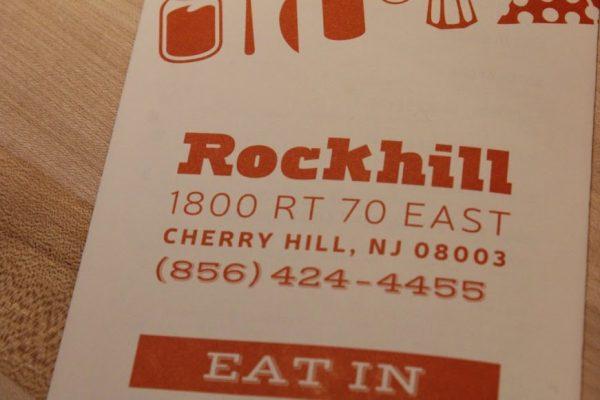 Rockhill dine-in burger restaurant Cherry Hill NJ menu address telephone number logo