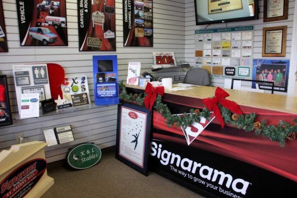 Signarama Cherry Hill NJ store interior printed signs posters