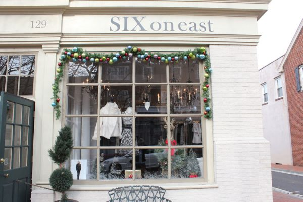 Six-on-East-Haddonfield-NJ-store-front-wall-display-logo-sign