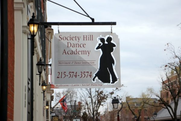 Society Hill Dance Academy Philadelphia PA entrance sign logo