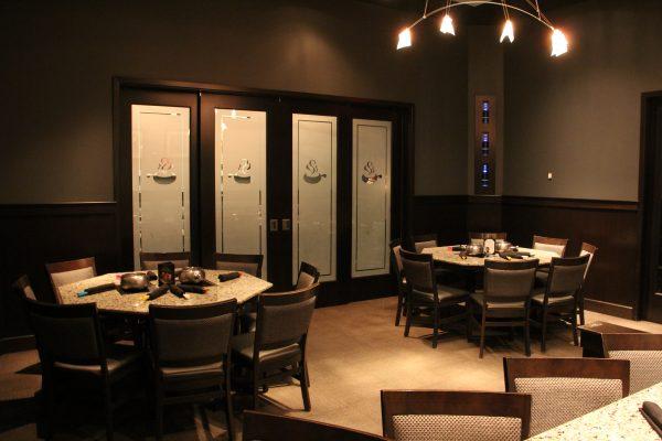 The Melting Pot a fondue restaurant Atlantic City NJ interior decor private dining room tables
