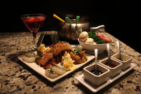 The Melting Pot a fondue restaurant Atlantic City NJ lobster tail shrimp