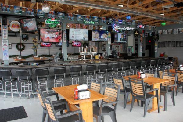 Whistler's Inn Cinnaminson NJ outside bar seating tv televisions biergarten