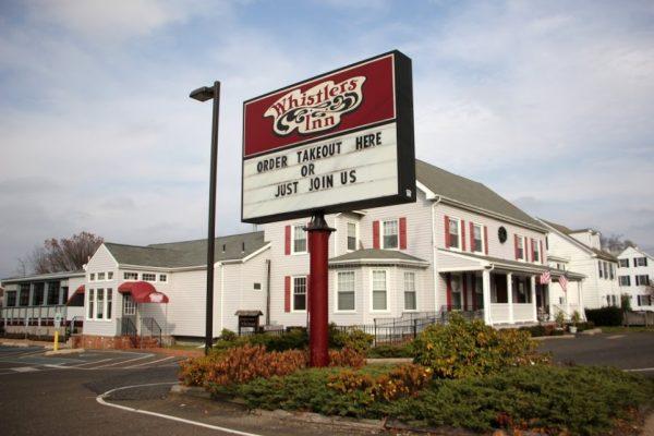 Whistler's Inn Cinnaminson NJ store front exterior shot sign logo