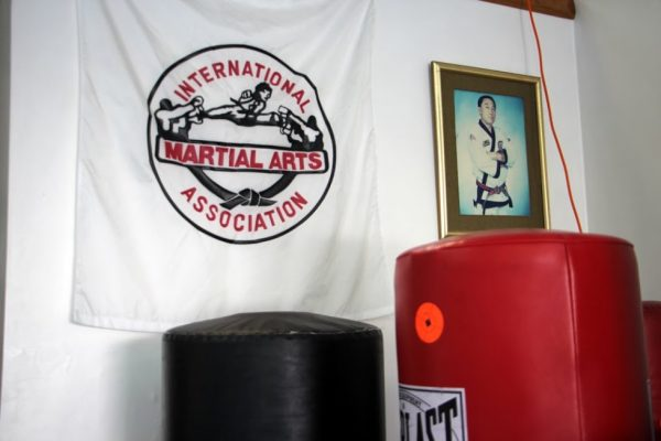 Yis Karate Institute Inc Atco NJ Martial Arts studio logo punching bag framed photo