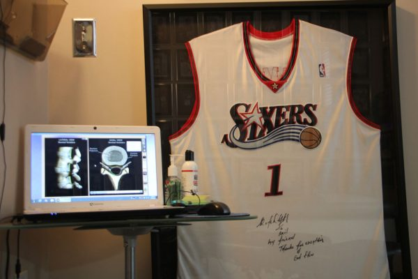 Advanced Chiropractic and Wellness Center Pennsauken Township NJ Neil Liebman autographed Philadelphia 76ers sixers jersey