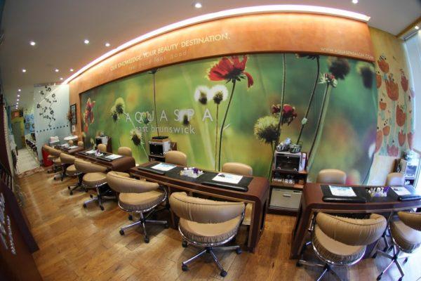AquaSpa Day Spa & Nail Salon East Brunswick nail station nail care manicure