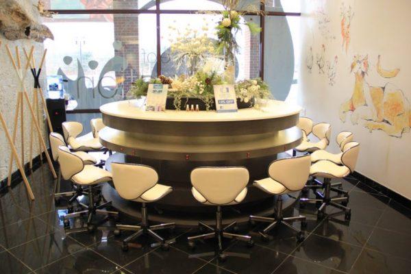 AquaSpa Day Spa and Nail Boutique Marlboro Morganville NJ chairs around round table