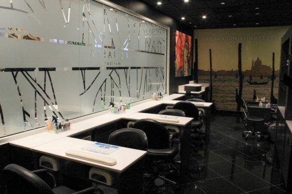 AquaSpa Day Spa and Nail Boutique Marlboro Morganville NJ nail care manicure station