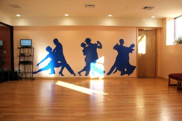 Arthur Murray Dance Studio Bayside NY silhouette dancers wall decal