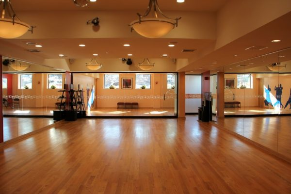 Arthur Murray Dance Studio Bayside NY wooden dance floor mirrors chandelier