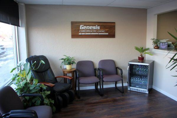 Genesis Chiropractic Clinic Horsham PA waiting room chairs logo