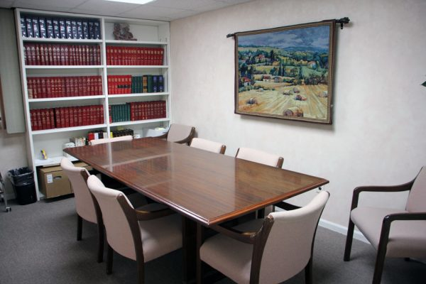 Gigliotti & Lehrfeld LLC Cherry Hill NJ law office conference room table legal books