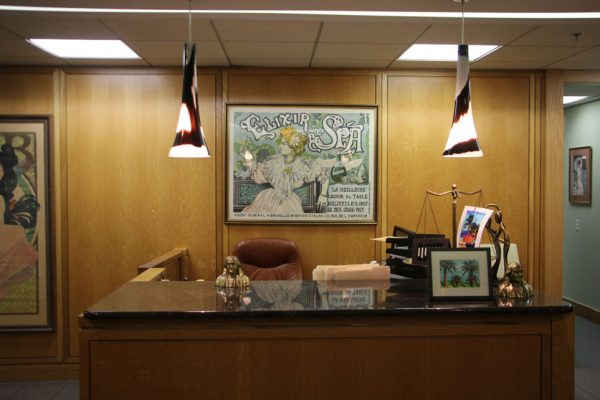 Law Offices of Lonny Fish Philadelphia PA receptionist front desk