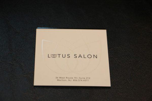 Lotus Salon Marlton NJ business card