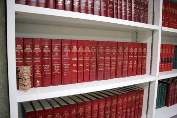 Morgenstern & Rochester Cherry Hill NJ legal book shelf red books