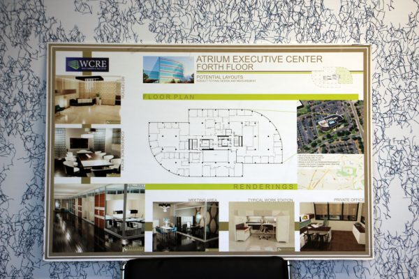Wolf Commercial Real Estate Marlton NJ Atrium Executive Center forth floor floorplan potential layouts blueprint rendering