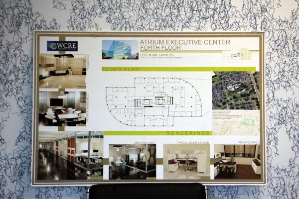 Wolf Commercial Real Estate Marlton NJ Atrium Executive Center forth floor floorplan potential layouts blueprint rendering
