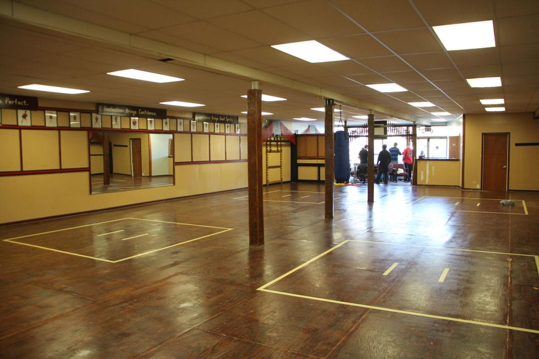 Yi 39 s karate medford nj dojo training floor wood floors for Floors floors floors nj