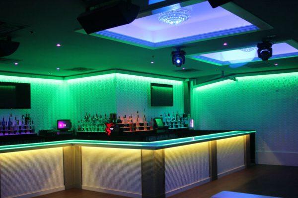 Down Night club Philadelphia PA bar counter club lounge