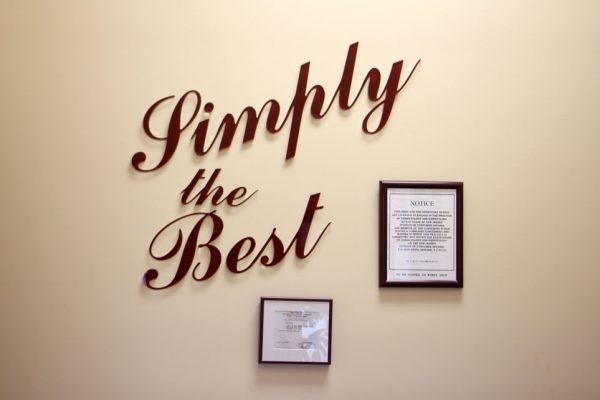 Simply The Best  Turnersville NJ barber shop hair salon wall sign logo